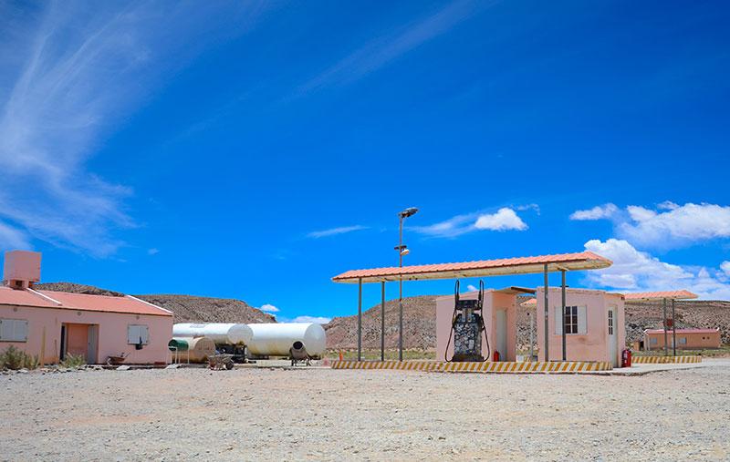 Este é o posto argentino com gasolina batizada (posto?).