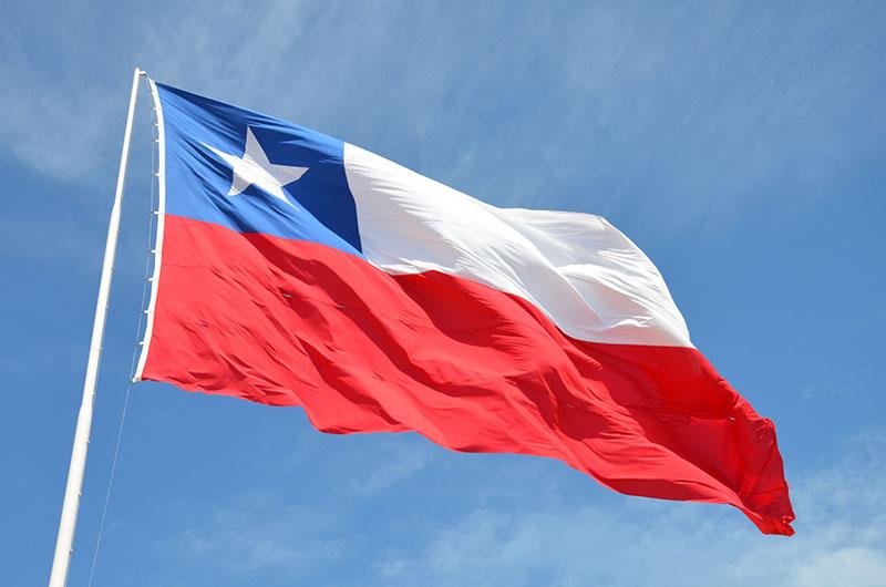 Bandeira chilena.