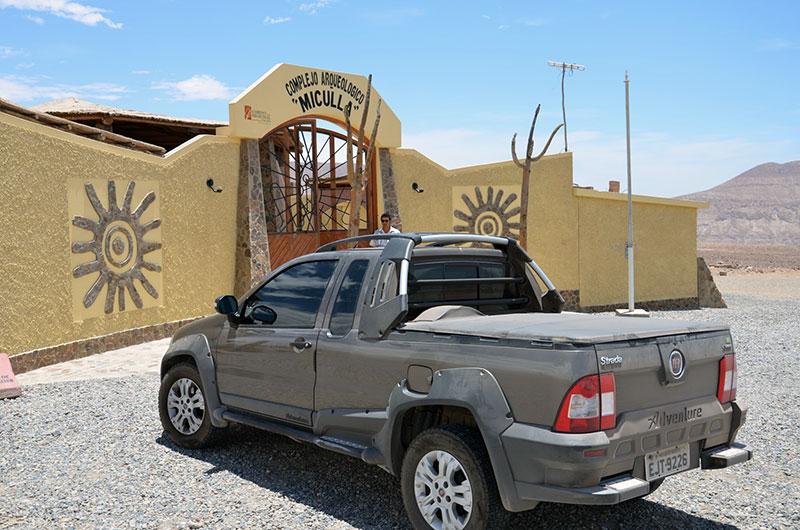 Entrada da administração do Complexo Arqueológico Miculla.