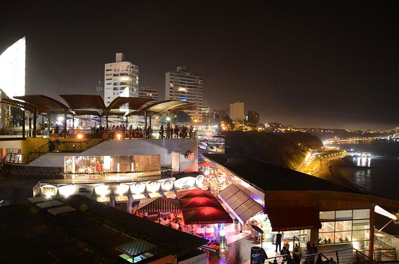 Noite de ano novo no Complexo Larcomar