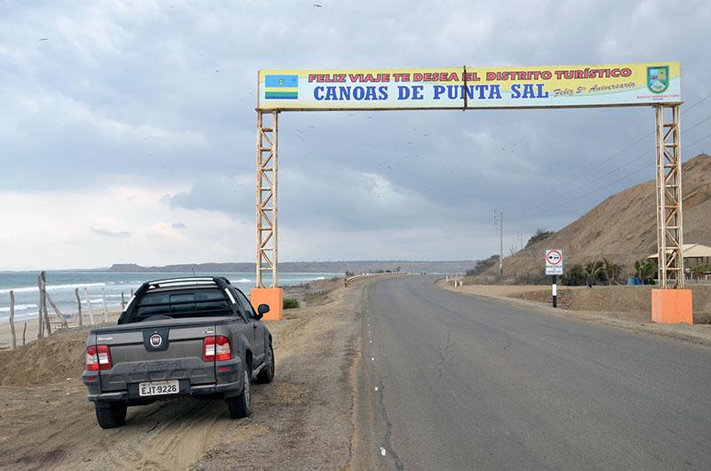 Saída de Punta Sal