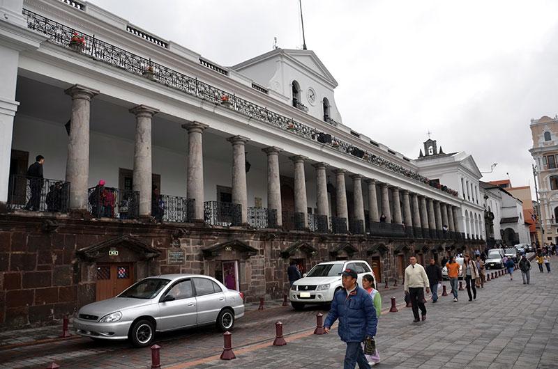 Palácio do governo em Quito