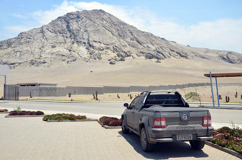 Visão do estacionamento do museu
