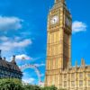 Big Ben e London Eye juntos