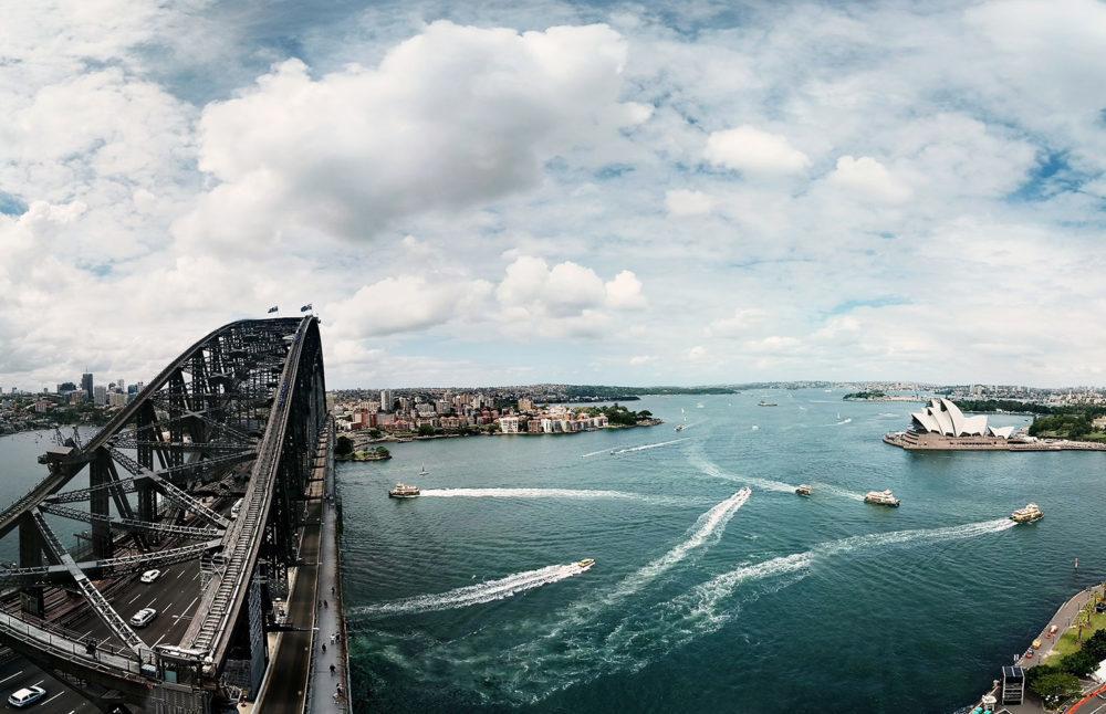 A linda baía de Sydney